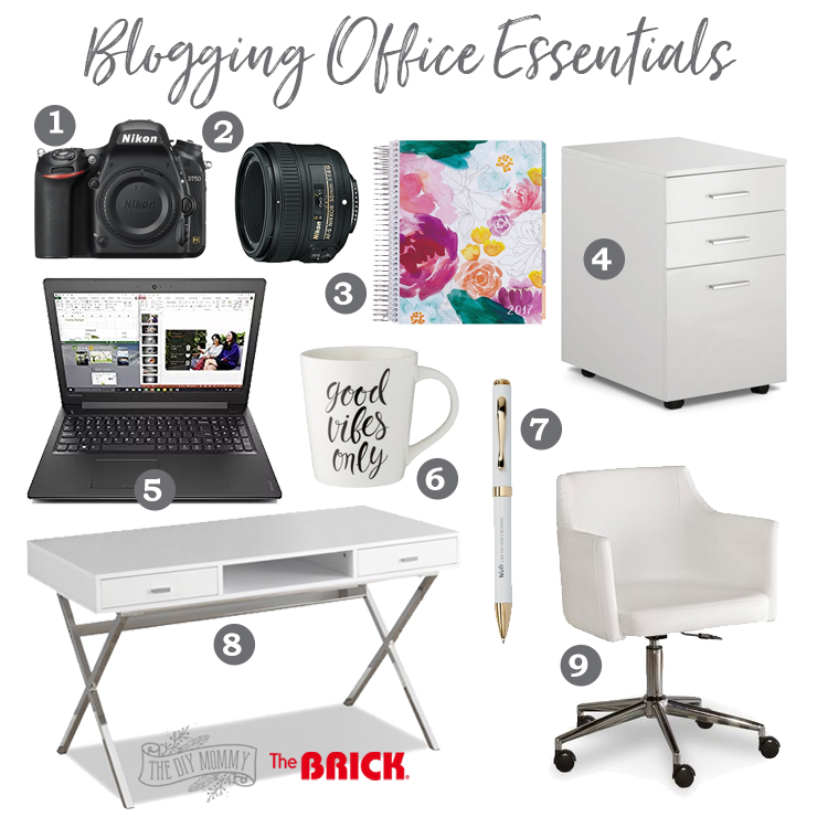 A list of blogging office essentials