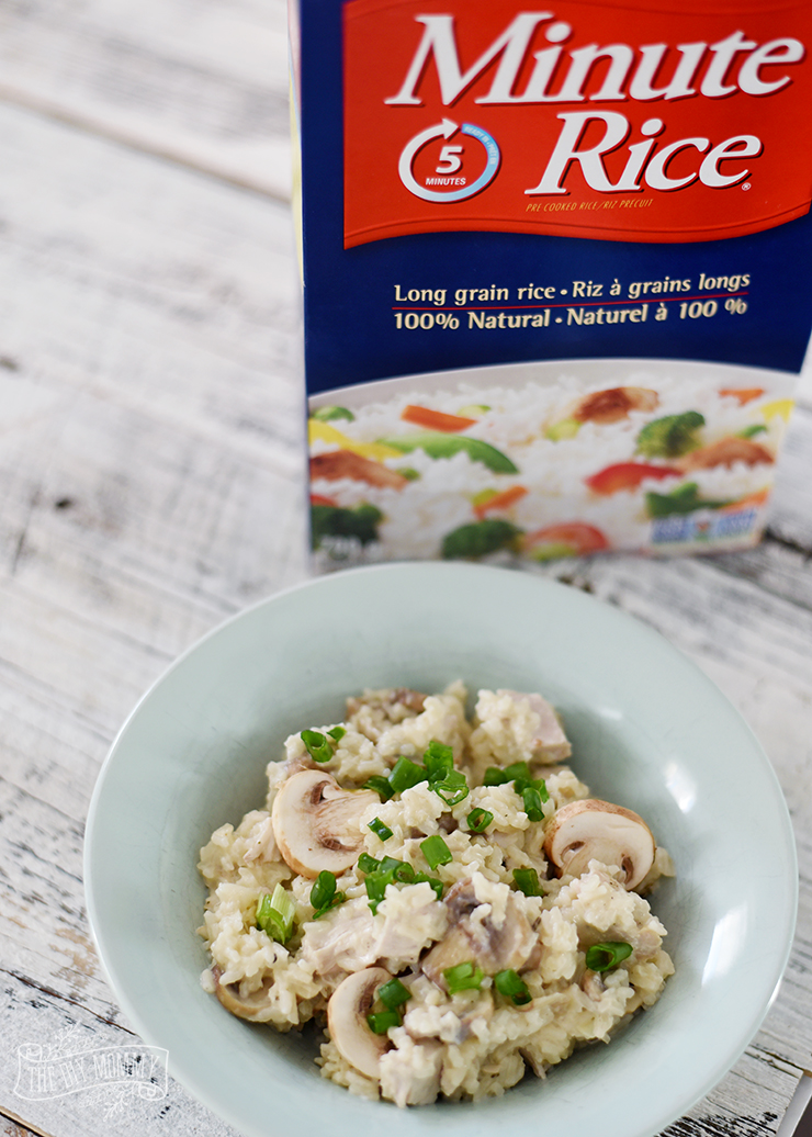 Chicken and Mushroom Mock Risotto with Minute Rice- so easy and delicious!