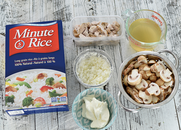 Chicken and Mushroom Mock Risotto with Minute Rice- so easy and delicious!Chicken and Mushroom Mock Risotto with Minute Rice- so easy and delicious!