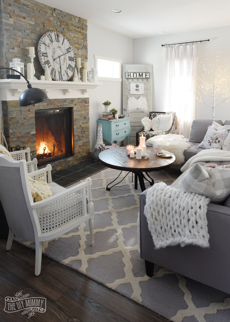 how to create a cozy hygge living room this winter the diy mommy. Black Bedroom Furniture Sets. Home Design Ideas