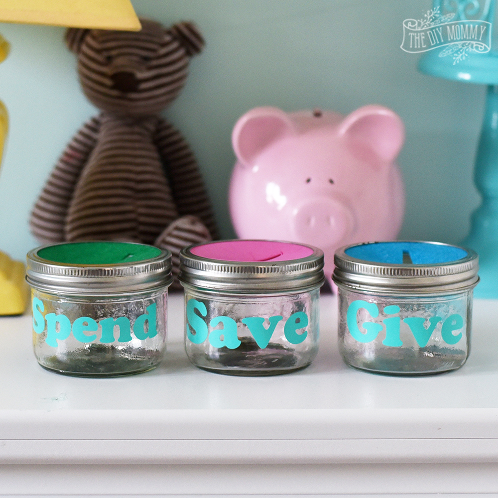 DIY Mason Jar Piggy Bank idea for Kids