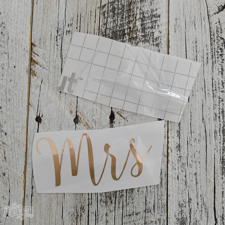 DIY Gold Foil Heart Plate and Mr & Mrs Mugs with the Cricut Explore Air