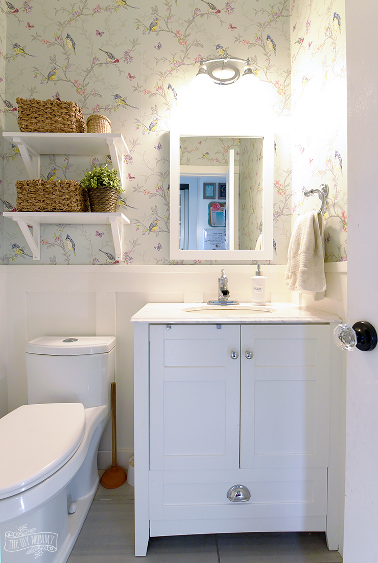 New Small Bathroom Powder Room Organization Ideas