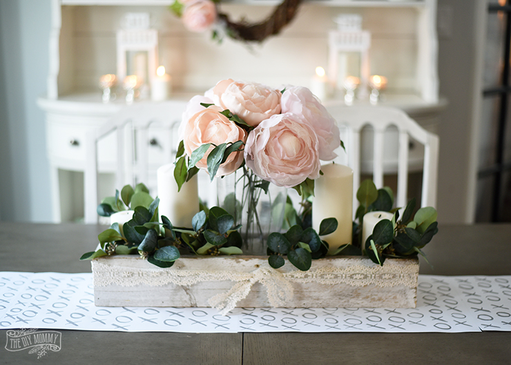 Romantic & Inexpensive Pink Floral Valentines' Day Tablescape Idea