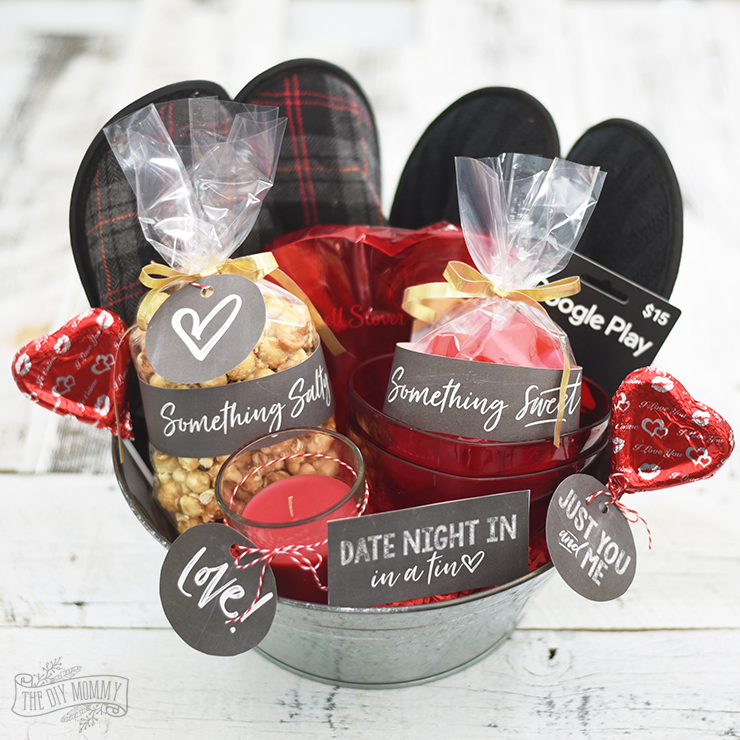 Valentine S Day Date Night In Gift Basket Idea 24 More V Day Diy