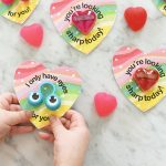 Non Candy Rainbow Heart Free Printable Valentines