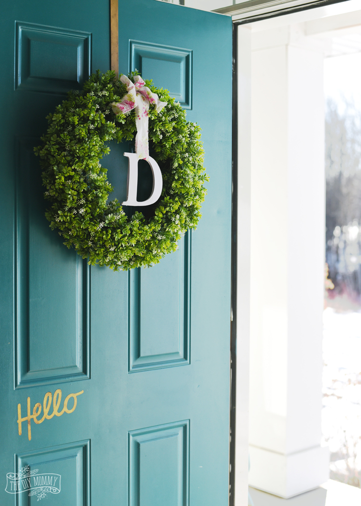 Simple DIY Spring Monogram Wreath