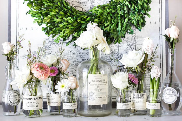 Spring Apothecary Jar Labels Printable + The Creative Corner #134: DIY, Craft & Home Decor Link Party
