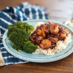 Make Easy Honey Garlic Shrimp with Minute Rice & Steamed Broccoli