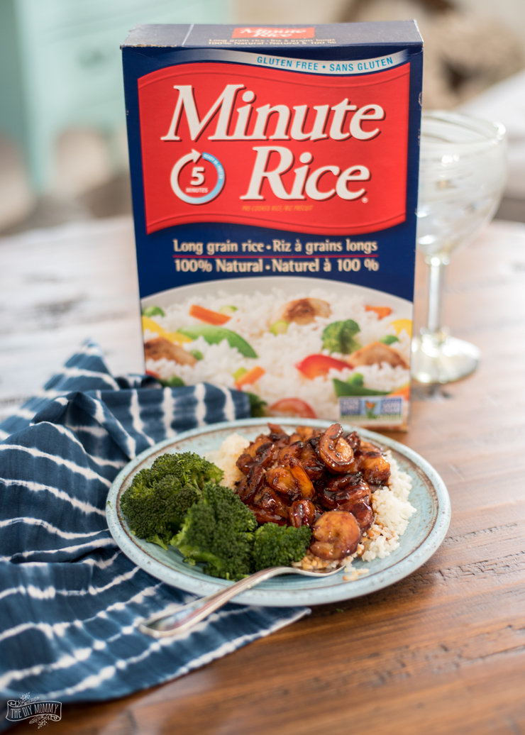 Easy Honey Garlic Shrimp with Miinute Rice & Steamed Broccoli Recipe