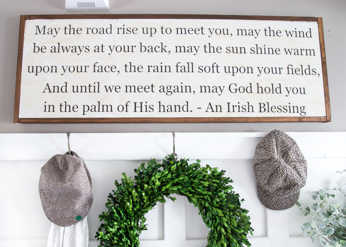 Diy Irish Blessing Sign The Creative Corner 136 Craft Home Decor Link Party