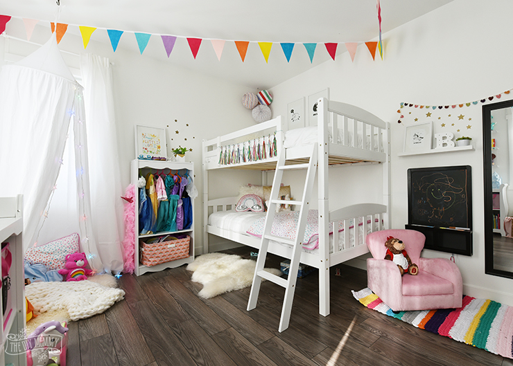 Modern Scandinavian Rainbow Toddler Bedroom Makeover