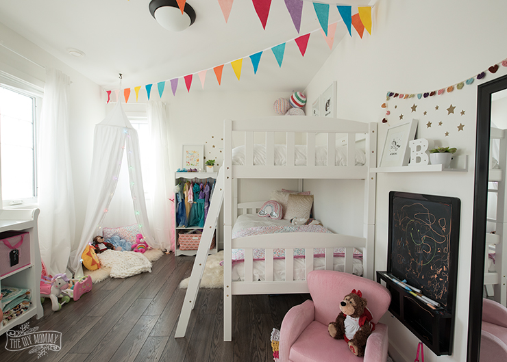 A Modern Rainbow Toddler Bedroom Makeover Reveal