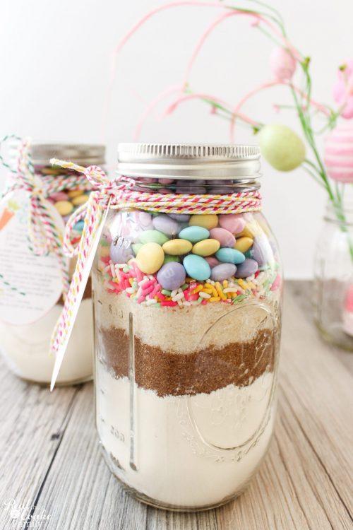 Cake Mix Cookies In A Mason Jar