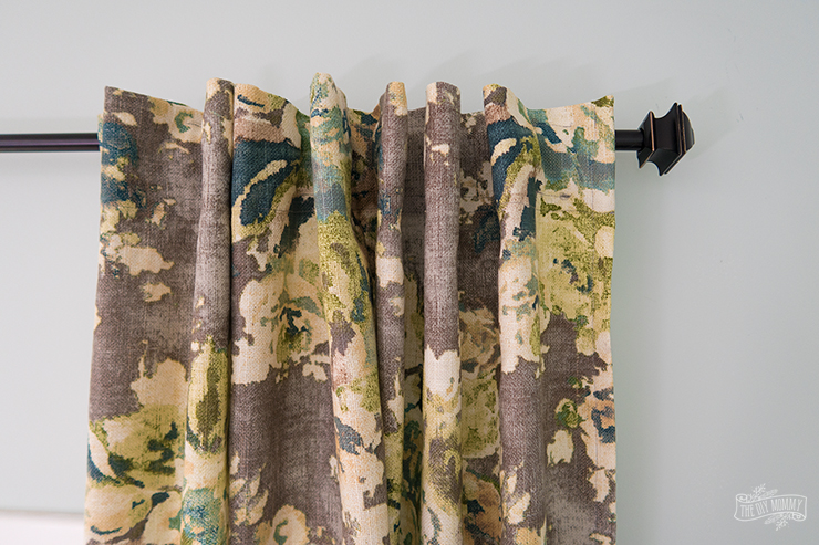 How to sew DIY hidden tab drapes - video tutorial