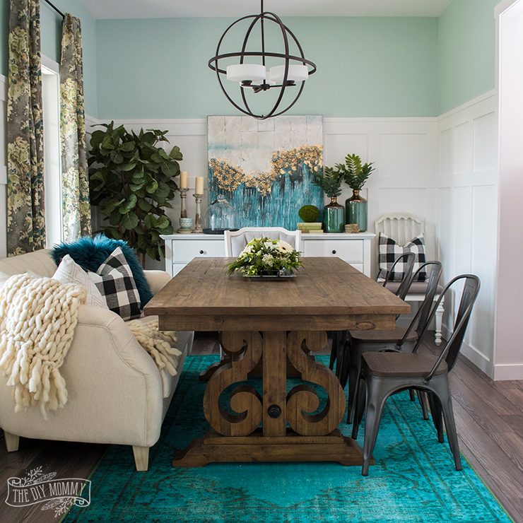 Teal Dining Room: A Boho Farmhouse Dining Room Reveal