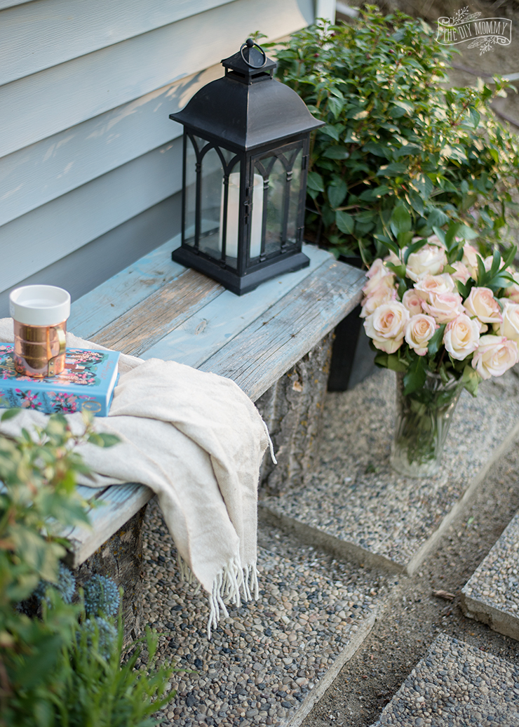 How to build a DIY rustic garden bench with logs and reclaimed wood