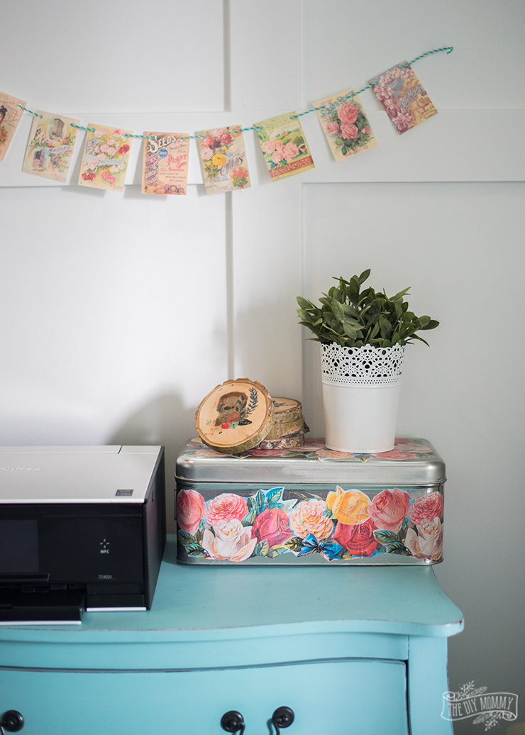 diy floral home decor ideas you can make with a printer | the diy