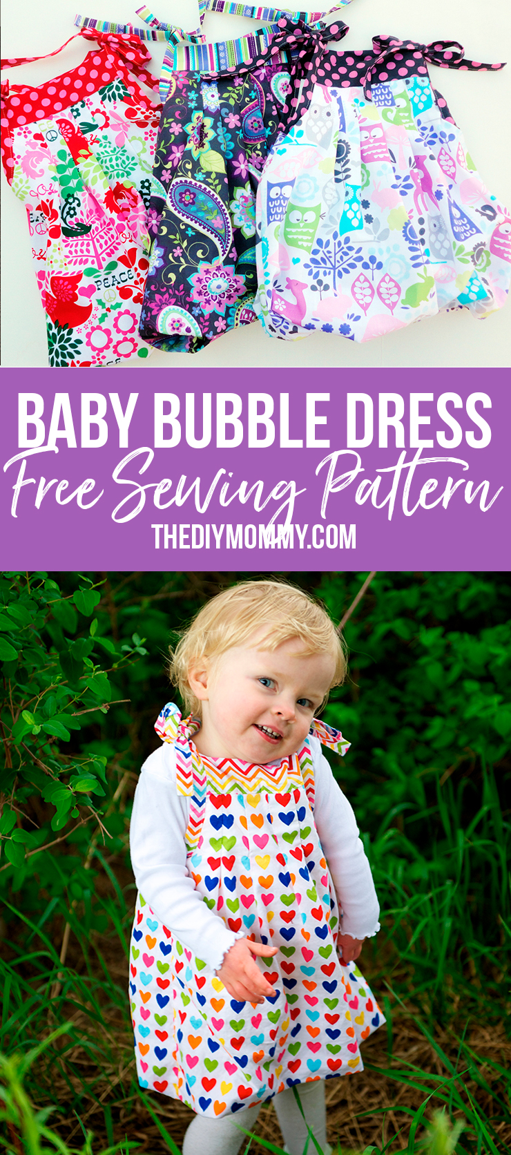 430442a71 FREE Baby and Toddler Sewing Pattern  Grow-With-Me-Bubble Dress ...