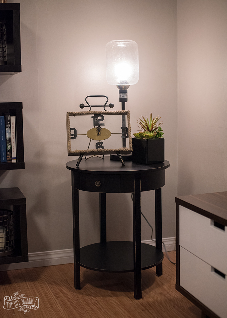 Floor Lamp With Table Makeover