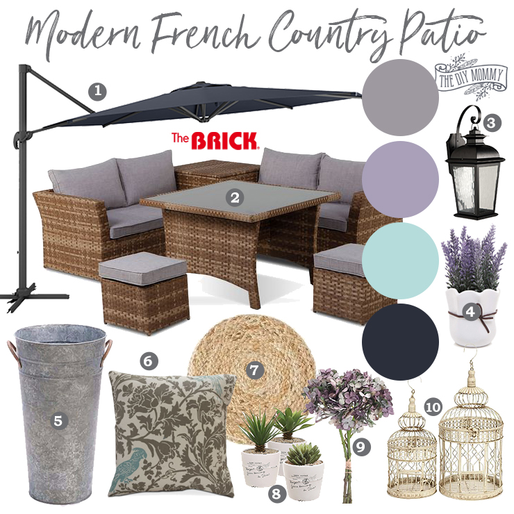 Modern French Country Patio Mood Board