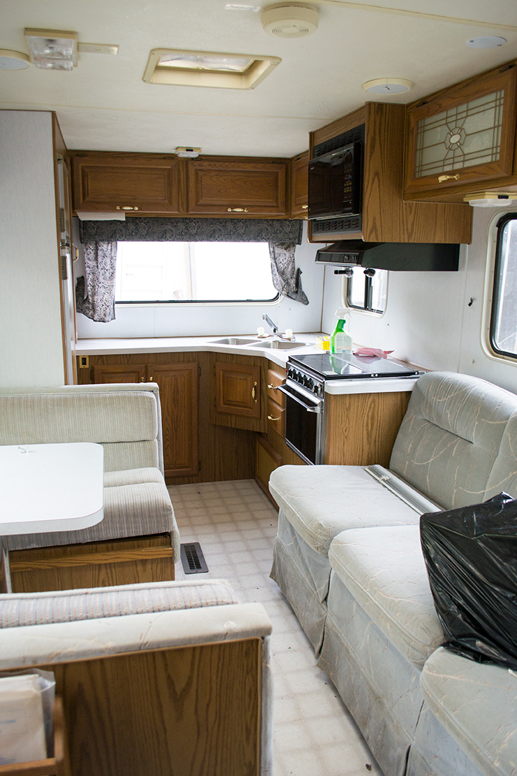 Heres What Our DIY Camper Looked Like When We Bought It In May Of This Year