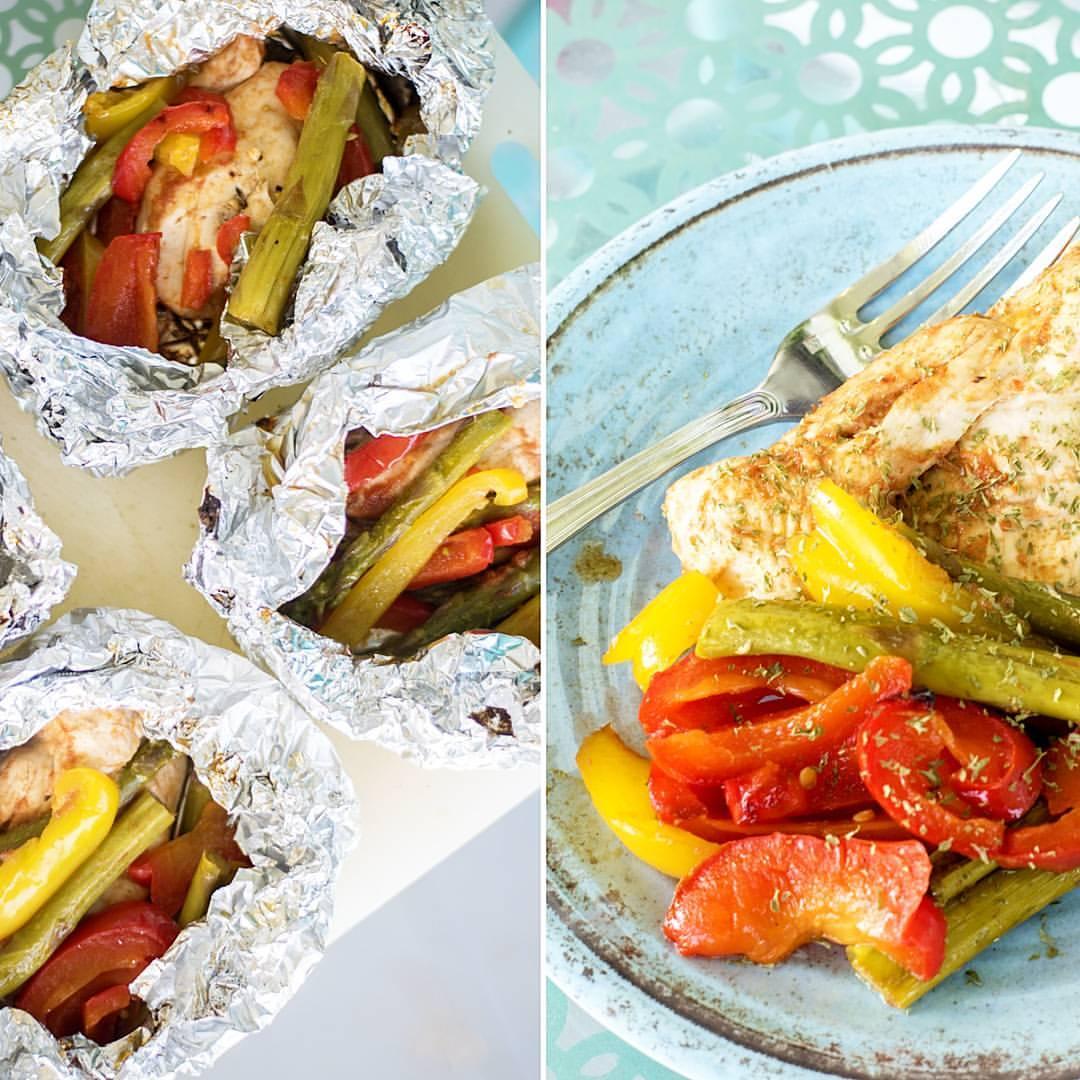 BBQ Chicken & Veggie Foil Packets Recipe