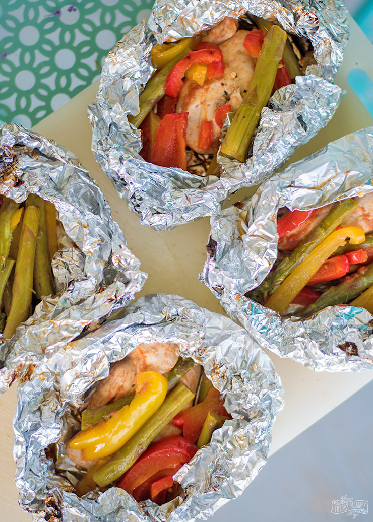 BBQ Chicken & Veggie Foil Packets Recipe