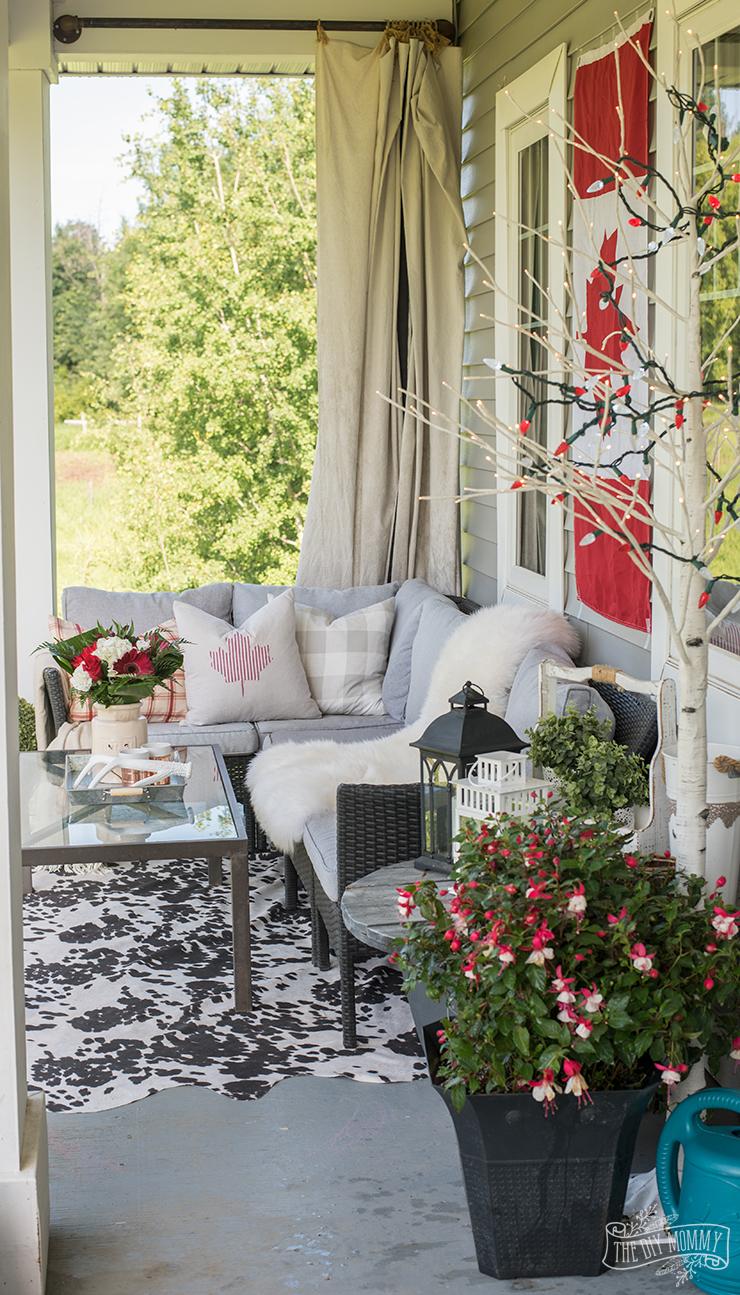 Our Canada Day Porch: Happy 150th Birthday, Canada! | The ... on Backyard Decor Canada id=45012