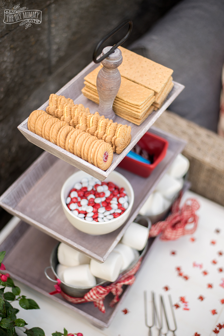 Canada Day Patriotic S'mores Bar