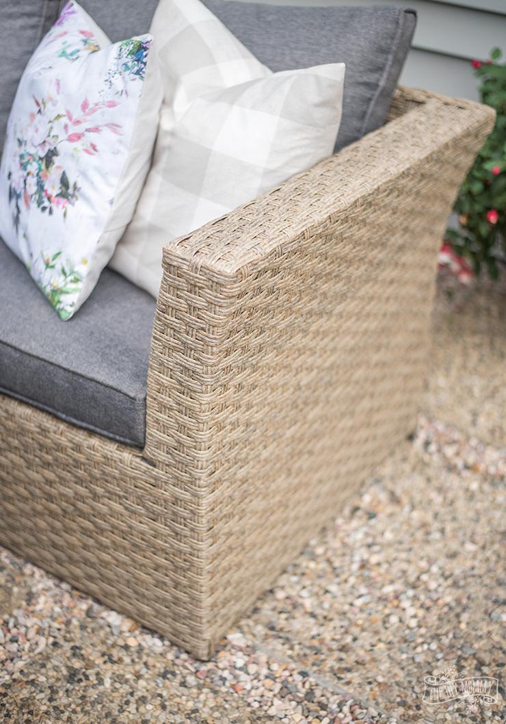 DIY modern French country patio idea