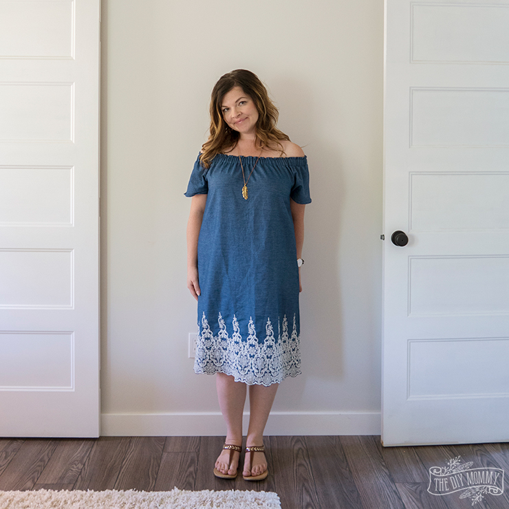 How to sew a DIY off shoulder peasant dress - free video tutorial!