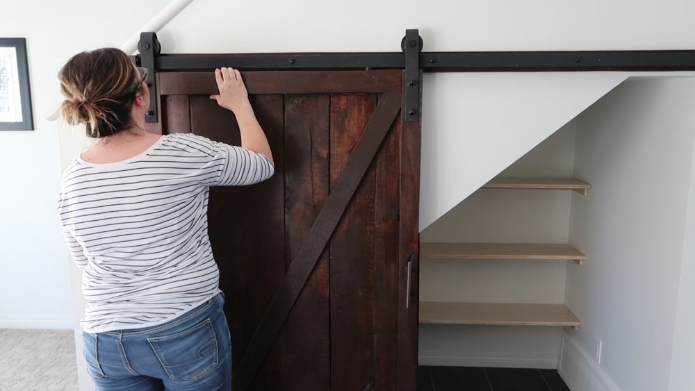 How To Build An Under Stairs Pantry With A Diy Sliding