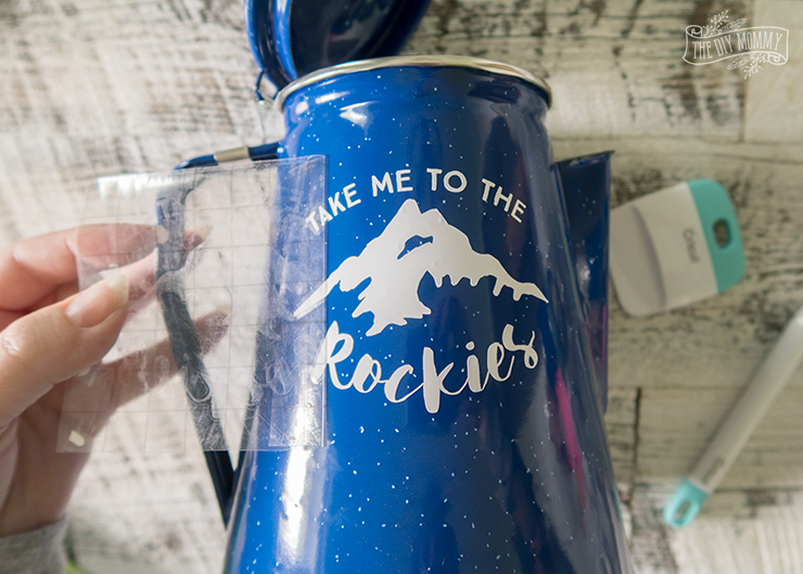 Take Me to the Rockies Camping Percolator Art - FREE SVG Cut File!