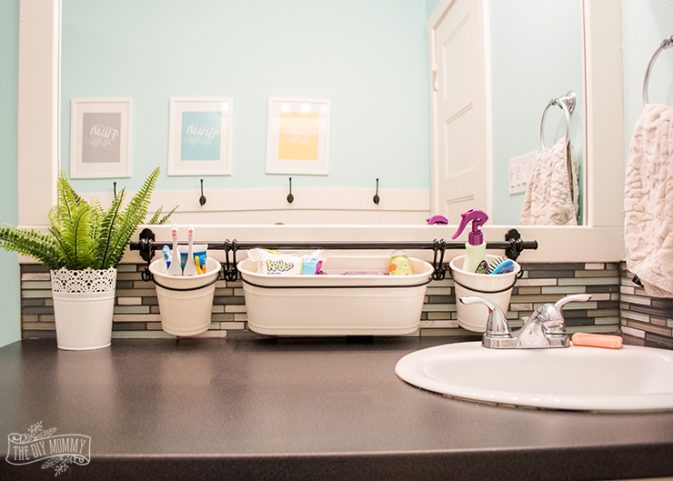 Clever kids bathroom organization ideas