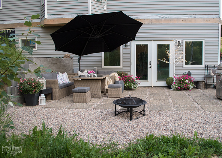 Modern French Country DIY Patio