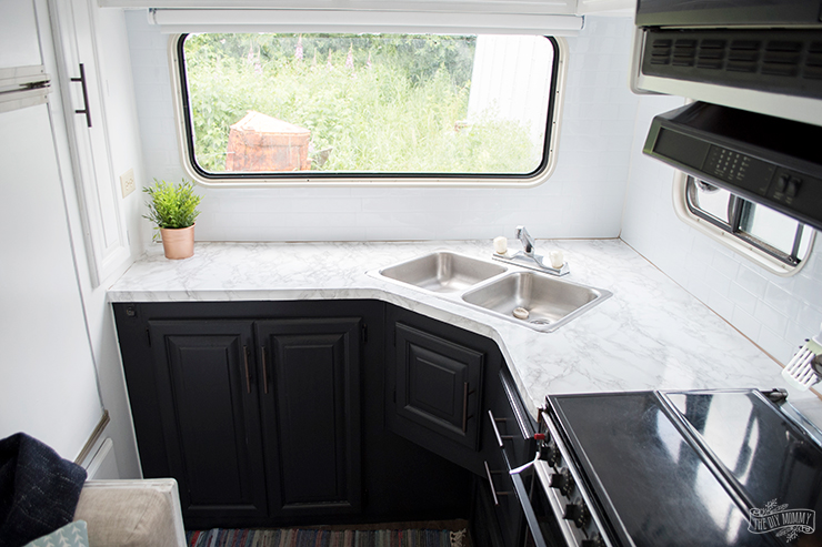 RV Camper Kitchen Makeover