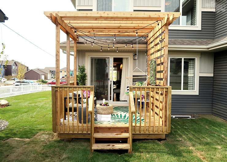 Budget Friendly Modern Boho Deck Makeover