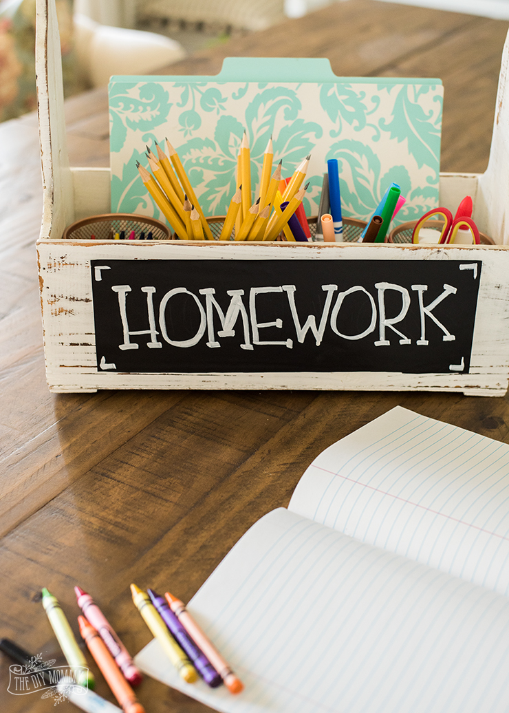 DIY Mini Homework Station for Back to School