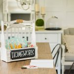 DIY Mini Homework Station