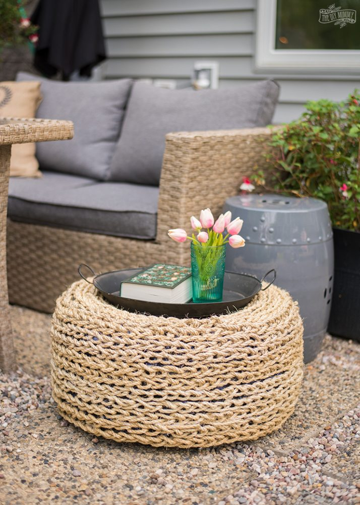 How to make a recycled tire ottoman