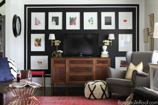 Black & White Gallery Wall + The Creative Corner #158: DIY, Craft & Home Decor Link Party