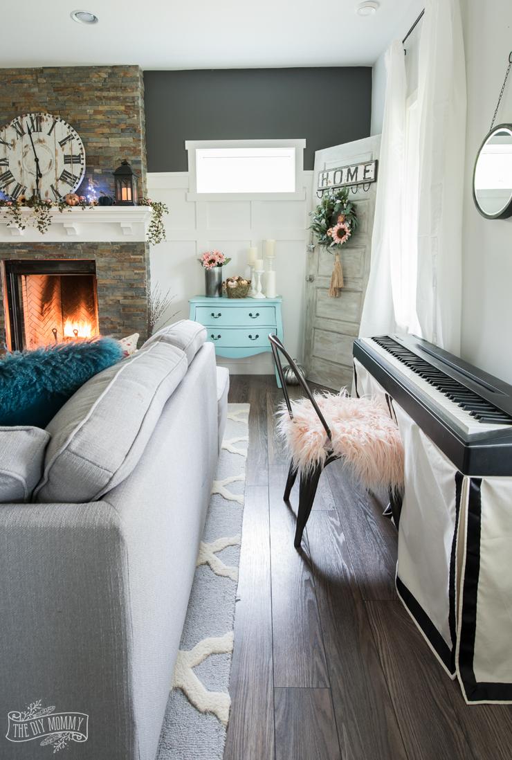 Boho Farmhouse Fall Living Room Decor Ideas