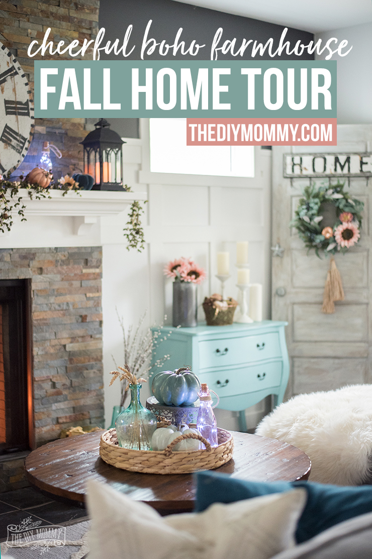 Beautiful & cheerful boho farmhouse Fall home decor ideas