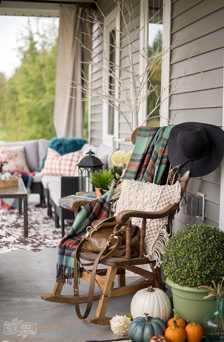 Our Cheerful Fall Front Porch The Diy Mommy