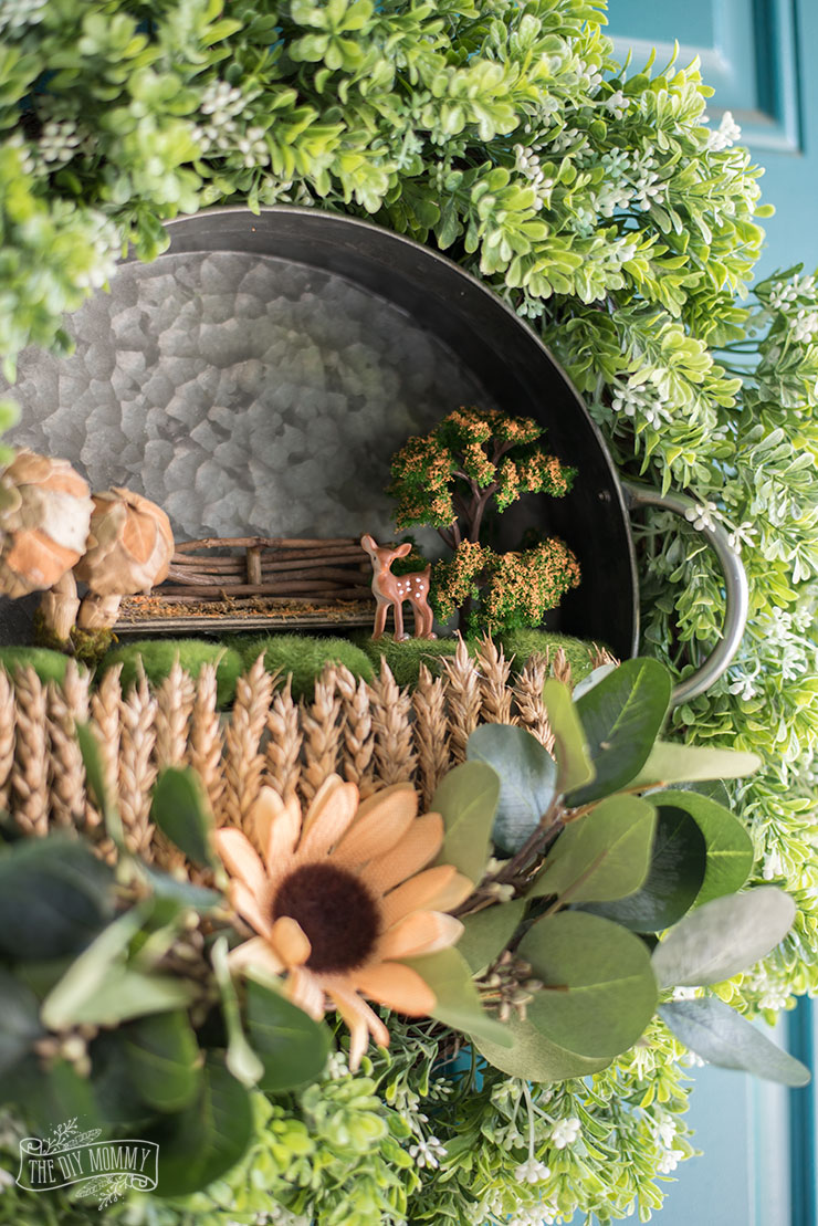 Fall Fairy Garden Wreath Tutorial