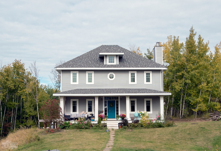 Fall Farmhouse Exterior