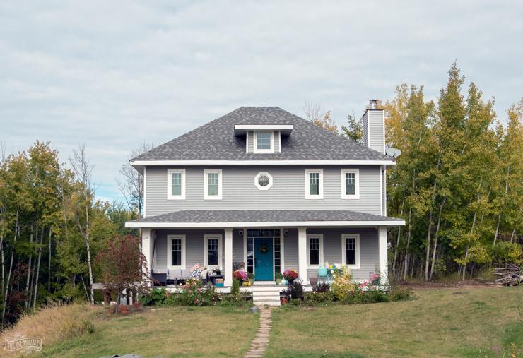 Fall Farmhouse Exterior
