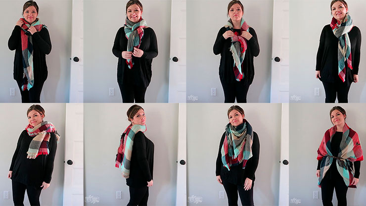 13 Ways to Wear a Blanket Scarf