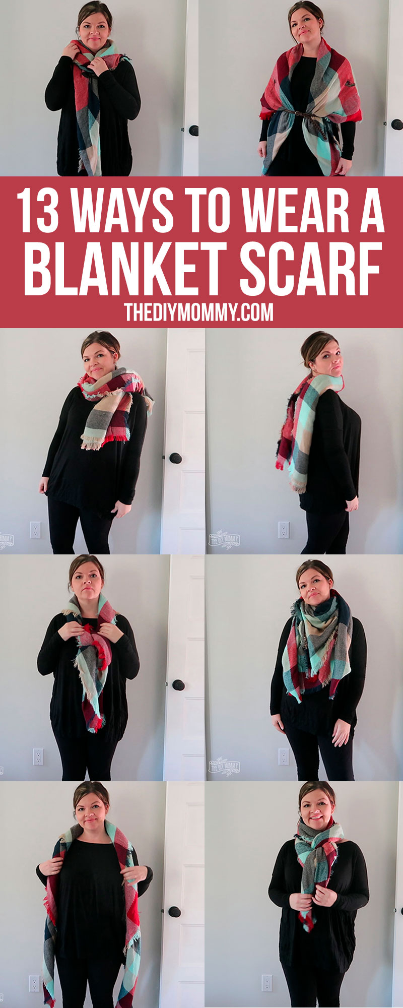 So many great ways to wear / tie a blanket scarf for Fall!